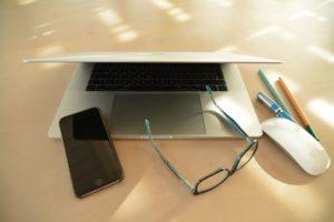 Apple, Bureau, Ordinateur Portable, Bureau À Domicile